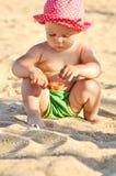 Baby on the beach Stock Photos