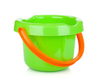 Baby beach sand bucket. Isolated on white background Royalty Free Stock Images
