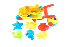 Baby beach sand toys Royalty Free Stock Image