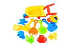 Baby beach sand toys Royalty Free Stock Images