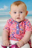 Baby on beach Royalty Free Stock Photo