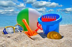 Baby beach toys Stock Images