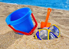 Baby beach toys Stock Image