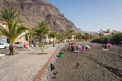 Baby beach in the Valle Gran Rey, La Gomera Royalty Free Stock Images