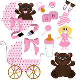 Baby bear. Things that can't miss for a baby girl Royalty Free Stock Photo
