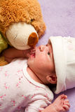 Baby with  bear Royalty Free Stock Photo
