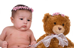 Baby and Bear Royalty Free Stock Photography