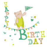 Baby Bear Birthday Card Stock Photos