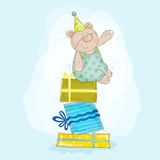Baby Bear Birthday Illustration Royalty Free Stock Photography