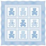 baby bear blue pastel quilt teddy Стоковая Фотография