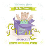 Baby Bear in a Box - Baby Shower Card Stock Photos