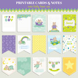 Baby Bear Card Set Royalty Free Stock Images