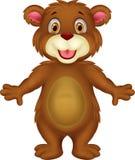 Baby bear cartoon waving Royalty Free Stock Photo