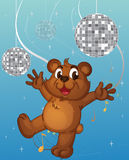 A baby bear dancing Royalty Free Stock Photos