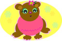 Baby Bear with Pink Sweater Stock Images