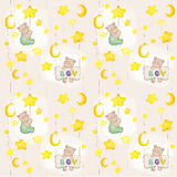 Baby Bear Seamless Pattern Royalty Free Stock Image