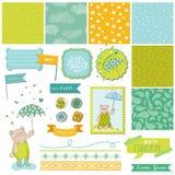 Baby Bear Shower Theme - Design Elements stock illustration