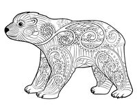 Baby bear in the zentangle style. Stock Image