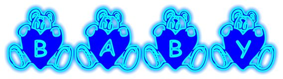 Baby Bears Blue. Word Decoration Stock Image