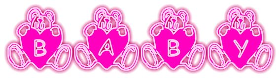 Baby Bears Pink. Word Decoration Stock Photos