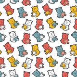 Baby bears toys pattern. Stock Images