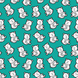 Baby bears toys pattern. Royalty Free Stock Photos