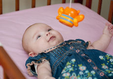 Baby in the bed Royalty Free Stock Photography