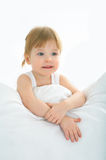 Baby in bed Royalty Free Stock Images