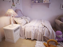 Baby bed for girls classic style Royalty Free Stock Images