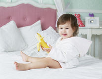 Baby in bed Royalty Free Stock Photography
