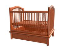 Baby Bed, Isolated_Raster. Raster of baby bed, isolated Royalty Free Stock Photos