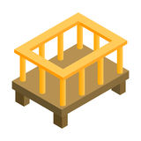 Baby bed isometric 3d icon. Single illustration isolated on a white background Royalty Free Stock Image