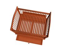 Baby Bed, Top View Drawer Open_Raster. Raster of baby bed, top view drawer open Stock Photos