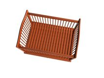Baby Bed, Top View_Raster Royalty Free Stock Photos