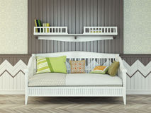 Baby bed Stock Image