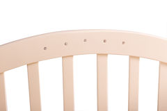 Baby bed wooden on a white background Royalty Free Stock Photos