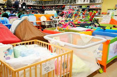 Baby beds for sale Stock Photo