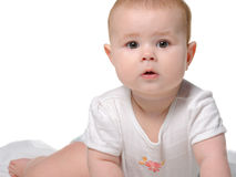 The baby on a bedsheet Royalty Free Stock Photo