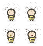 Baby bee Royalty Free Stock Images