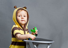 Baby bee Royalty Free Stock Photo