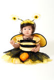 Baby Bee ready for Halloween Royalty Free Stock Image
