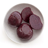 Baby Beetroot isolated Top View Royalty Free Stock Photography