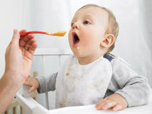Baby Being Fed Royalty Free Stock Image