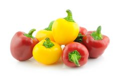 Baby bell peppers Stock Photo