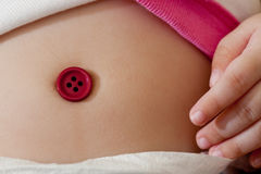 Baby belly button Royalty Free Stock Photo