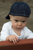 Baby on Bench Stock Photos