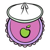 Baby bib icon cartoon. Baby bib icon in cartoon style isolated vector illustration Royalty Free Stock Photo