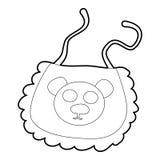 Baby bib icon, isometric 3d style Royalty Free Stock Photo