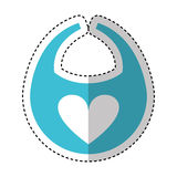 Baby bib isolated icon Royalty Free Stock Image