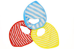Baby bibs isolated Royalty Free Stock Photos
